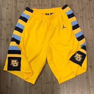 Authentic Nike Jordan Marquette Bball Shorts XL